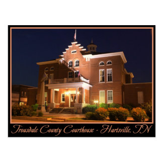 Trousdale County Courthouse - Hartsville, TN Postcard