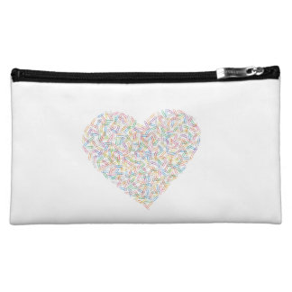 Trousse Coeur attaches Cosmetic Bag