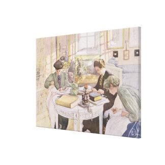 Trousseau, pub. in 'Lasst Licht Hinin'(`Let in Mor Canvas Print