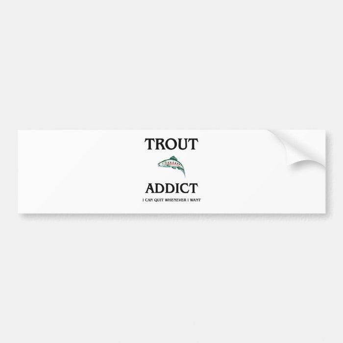 Trout Addict Bumper Sticker