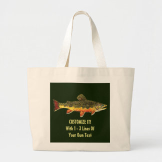 Trout Angler Large Tote Bag