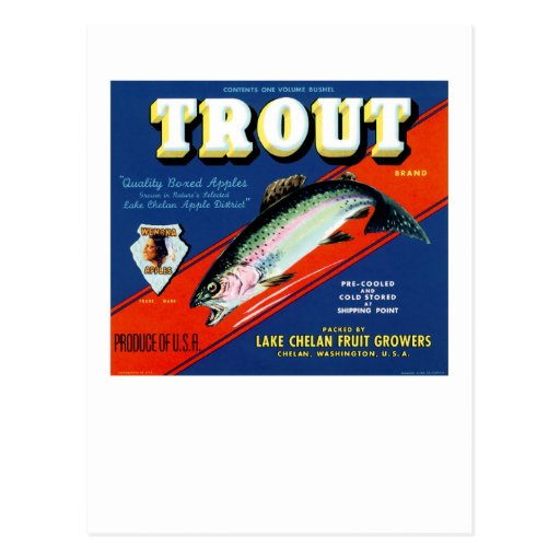 Trout Brand Post Card
