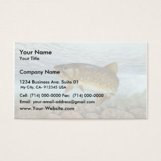 Trout, brook business card