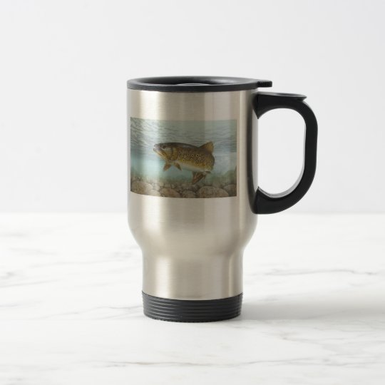 Trout, brook travel mug