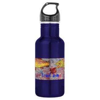 trout bum art stainless steel water bottle