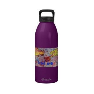 trout bum art drinking bottles