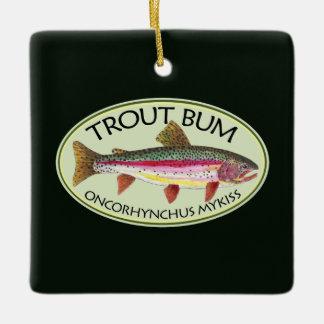 Trout Bum Fisherman's Ceramic Ornament