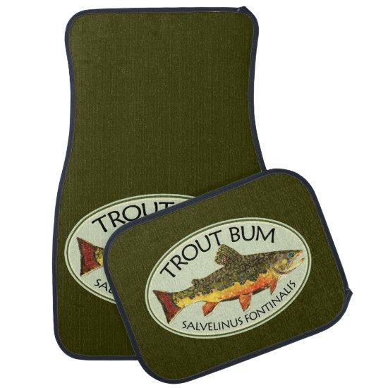 Trout Bum Fishing Car Mat