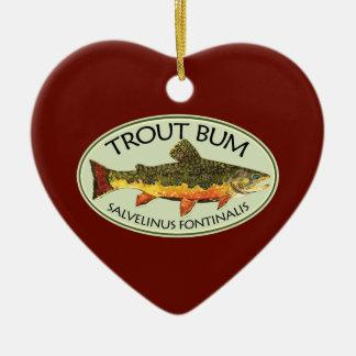 Trout Bum Fishing Ceramic Ornament