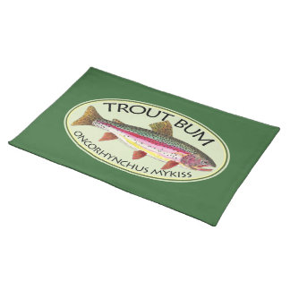 Trout Bum Fishing Cloth Placemat