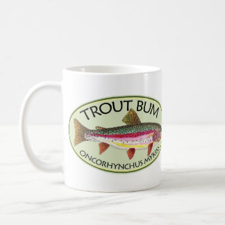 Trout Bum Fishing Coffee Mug