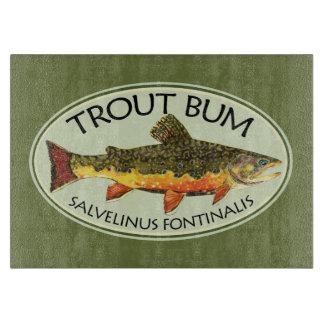 Trout Bum Fishing Cutting Board