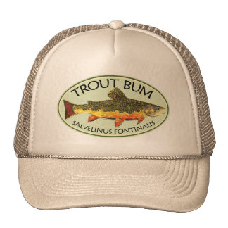 Trout Bum Fishing Trucker Hat