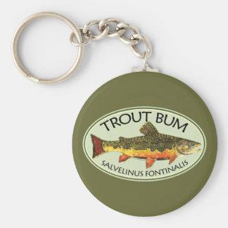 Trout Bum Fishing Keychain