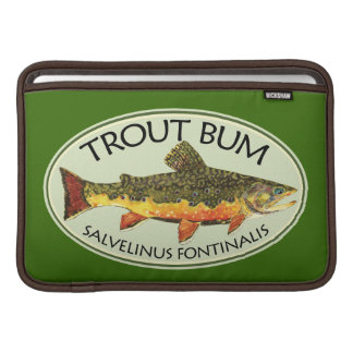 Trout Bum Fishing MacBook Sleeve