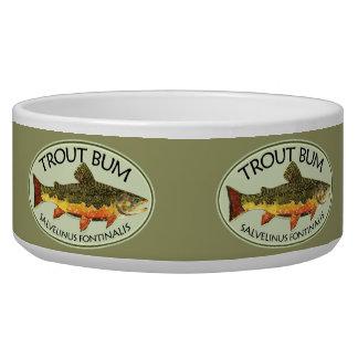 Trout Bum Fishing Pet Food Bowls