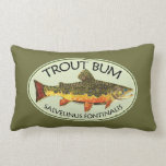 Trout Bum Fishing Pillow