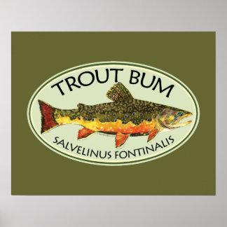 Trout Bum Fishing Print