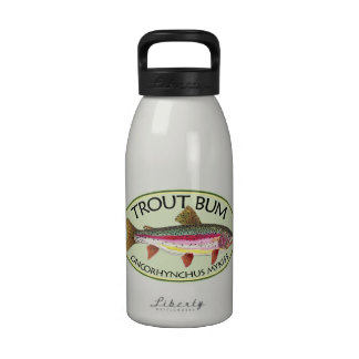 Trout Bum Fishing Drinking Bottle