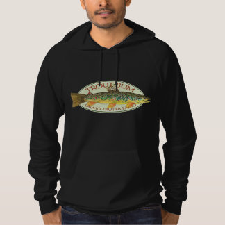 Trout Bum Fly Fishing Hoodie