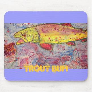 trout bum mouse pad