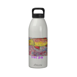 trout bum water bottle