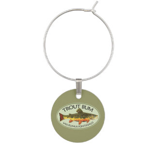 Trout Bum Wine Charms
