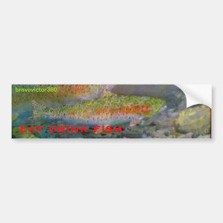 trout bumpersticker bumper stickers