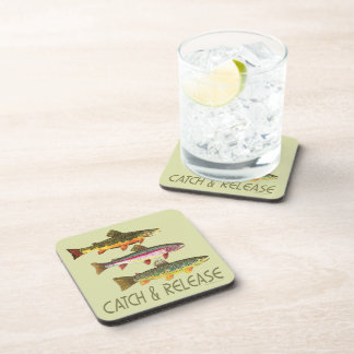 Trout Catch and Release Beverage Coaster