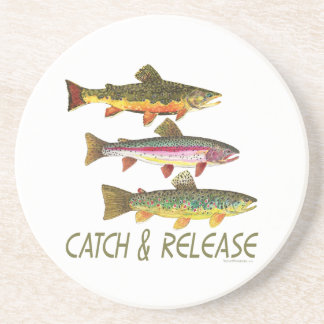 Trout Catch and Release Drink Coaster