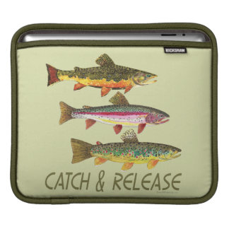 Trout Catch and Release iPad Sleeve