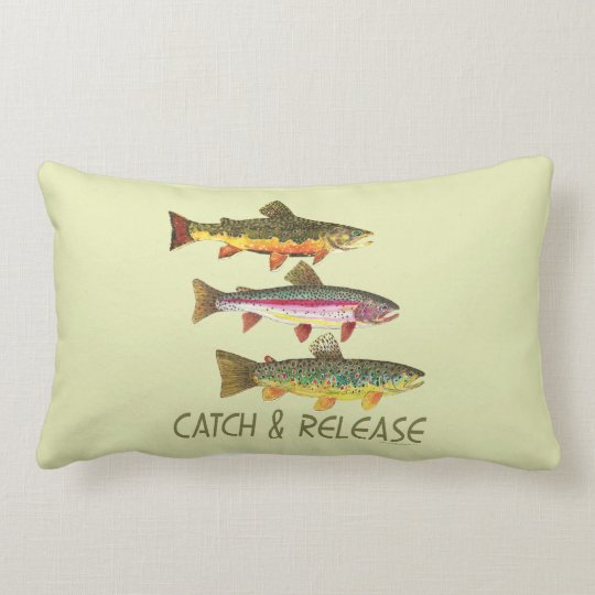 Trout Catch and Release Lumbar Pillow