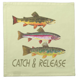 Trout Catch and Release Cloth Napkin