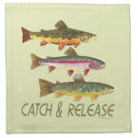 Trout Catch and Release Napkins