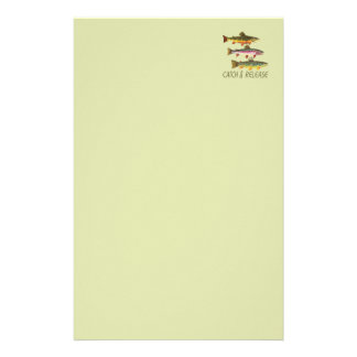 Trout Catch and Release Stationery