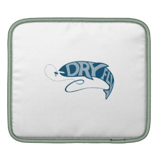 Trout Catching Bait Dry Fly Retro iPad Sleeve