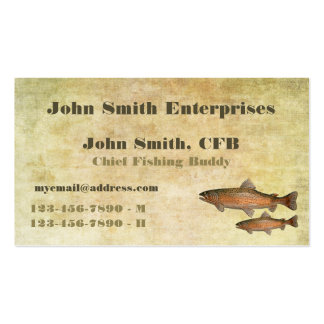 Trout Chief Fishing Buddy Template Double-Sided Standard Business Cards (Pack Of 100)