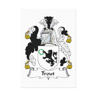 Trout Family Crest Gallery Wrapped Canvas