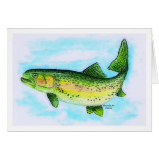 Trout Father's Day Card (Large Print)