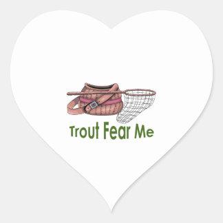 TROUT FEAR ME HEART STICKER
