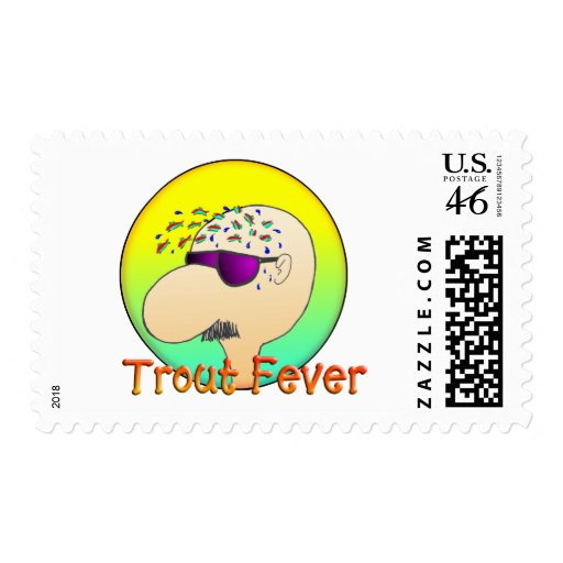 TROUT FEVER POSTAGE STAMP