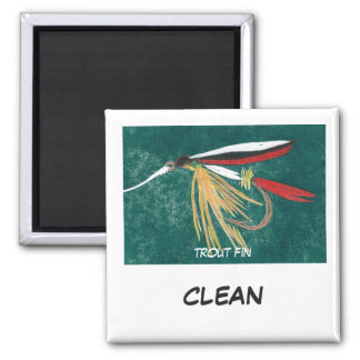 """""""Trout Fin"""" Dish Washer Status Magnet"""