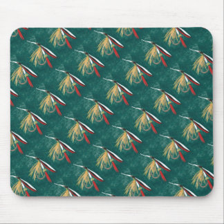 """""""Trout Fin Tiled"""" Trout Fly Mousepad"""
