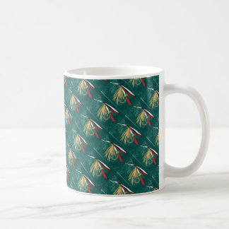 """""""Trout Fin"""" Tiled Wet Fly Trout Fly Mug"""