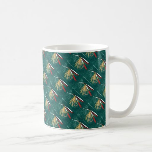 """Trout Fin"" Tiled Wet Fly Trout Fly Mug"