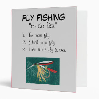 """Trout Fin-To Do List"" Fly Fishing Journal Binder"