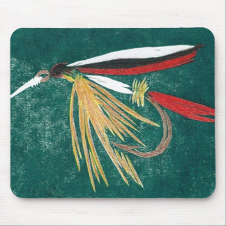 """""""Trout Fin"""" Trout Fly Mousepad"""