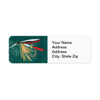 """""""Trout Fin"""" Trout Fly Return Address Label"""