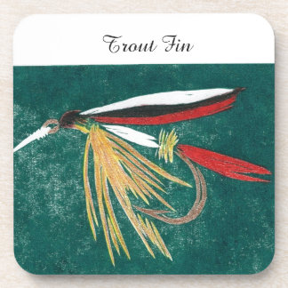 """""""Trout Fin"""" Trout Wet Fly Coaster"""