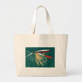 """""""Trout Fin"""" Wet Fly Jumbo Tote"""